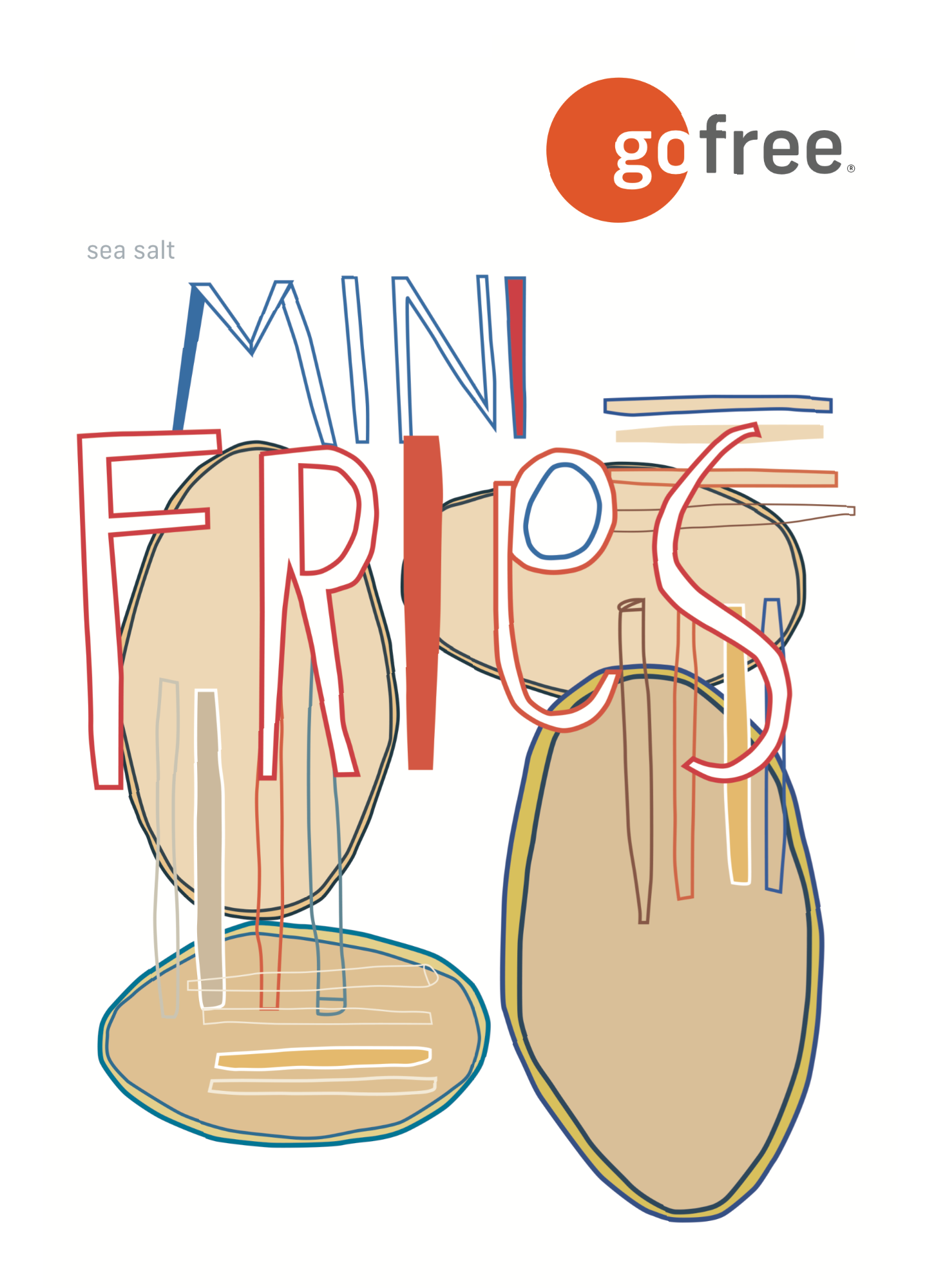 go free® Mini Fries package front