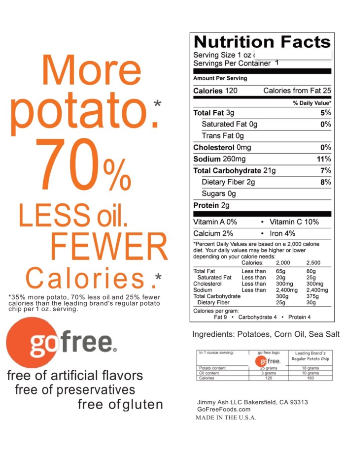 go free® Mini Fries, nutrition info